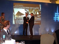 Gordon Brown, GBSPM Ltd  receiving steel Design award 2008